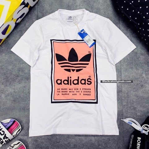 Filled Label Tee Pink