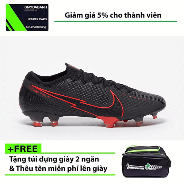 Nike Mercurial Vapor XIII Elite FG AQ4176-060 Black X Chile Red Pack
