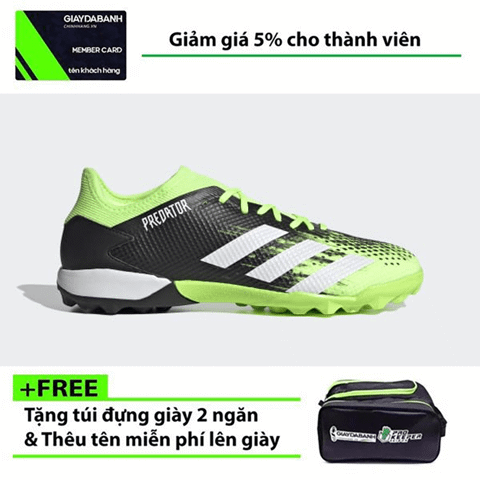 Adidas Predator 20.3 Low TF EH2907 Precision To Blur Pack - Signal Green/Footwear White/Core Black