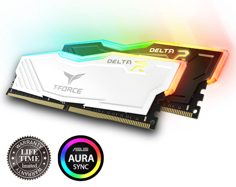 Ram Team T-Force Delta RGB 16GB Bus 3000 DDR4 Black/White