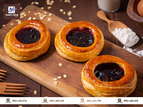 NGÀN LỚP VIỆT QUẤT - BLUEBERRY PUFF PASTRY PIES