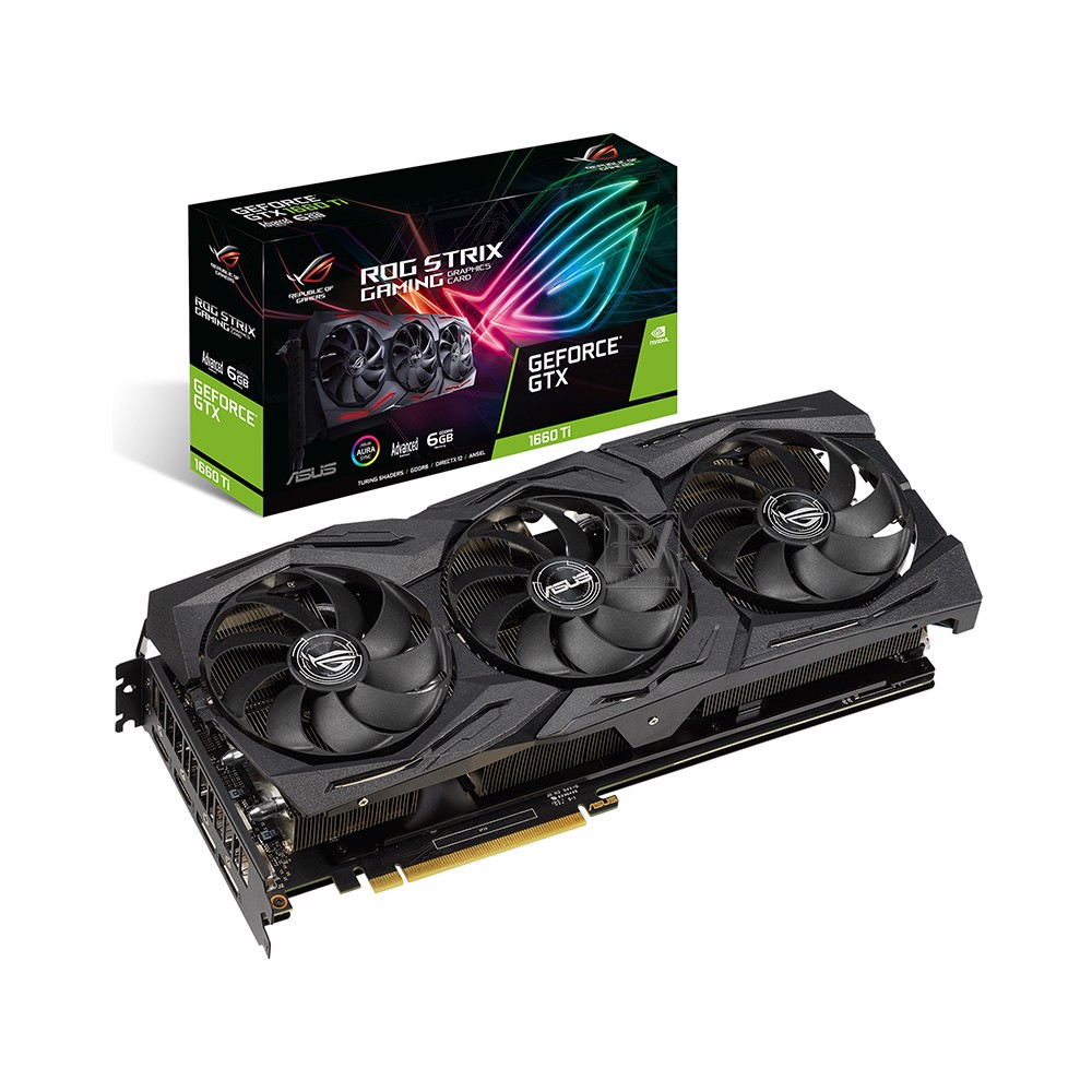 Card màn hình ASUS GeForce GTX 1660Ti 6GB GDDR6 ROG Strix Advance (ROG-STRIX-GTX1660Ti-A6G-GAMING)