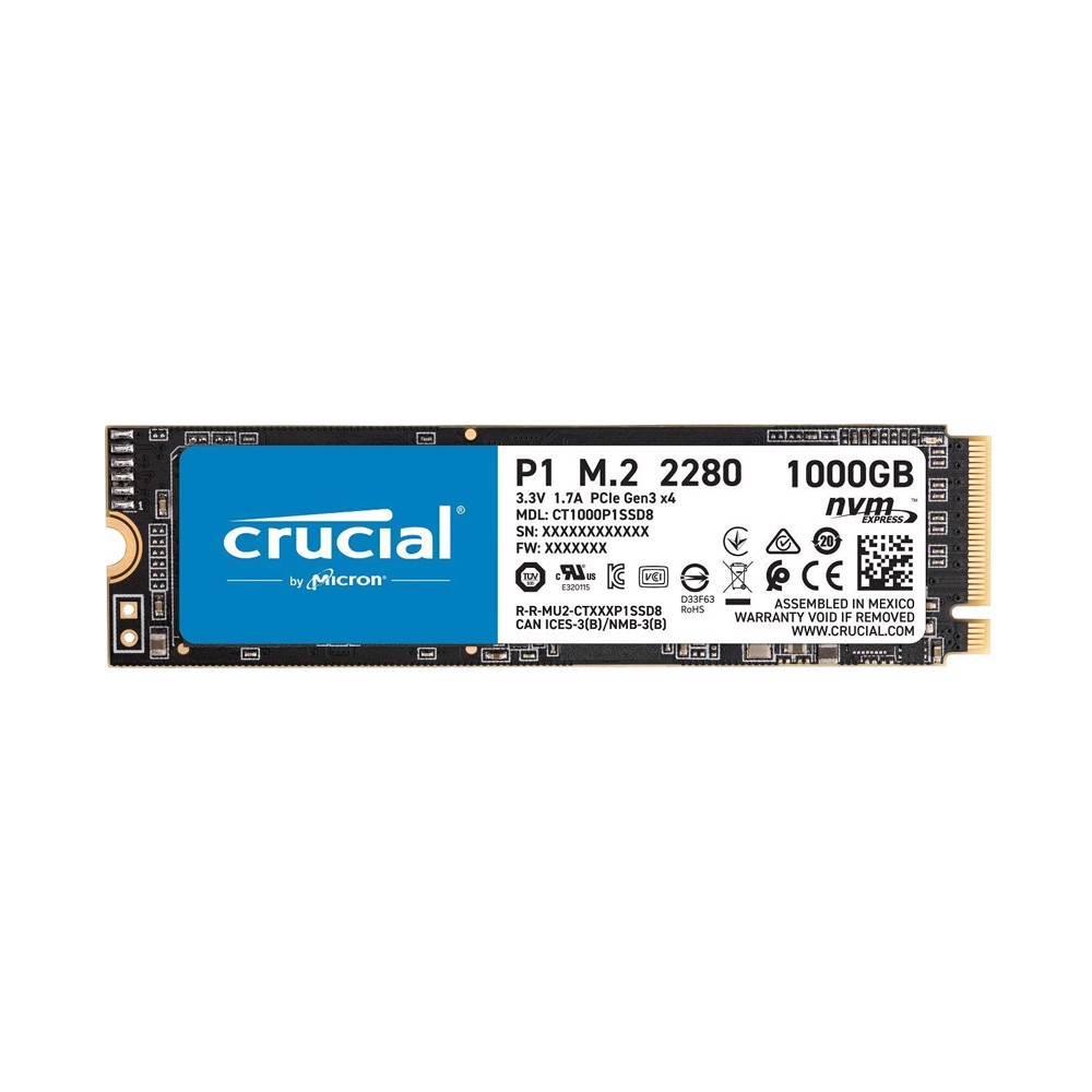 Ổ cứng SSD Crucial PCIe NVMe 1TB CT1000P1SSD8