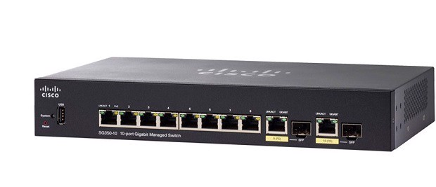 Switch Cisco SG350-10 10-ports (SG350-10-K9)
