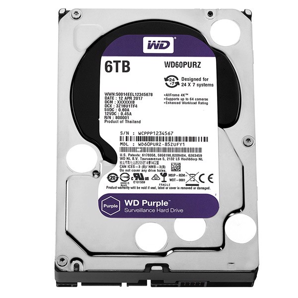 Ổ cứng HDD Western Digital Purple 6TB 3.5