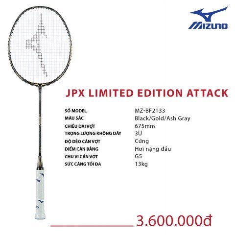 VỢT CẦU LÔNG MIZUNO JPX LIMITED EDITION ATTACK