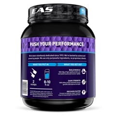 EAS 100% Whey Protein Powder, Chocolate, 30g Protein, 2 lb