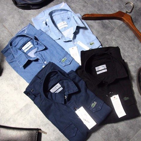 Sơmi Denim Lacoste
