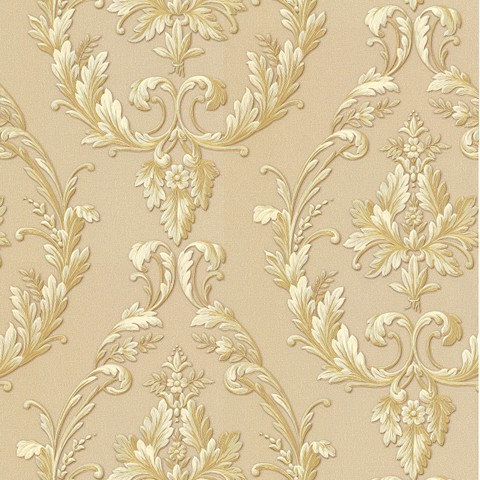 GP1001-4 Fabric Damask (Gold Brown)