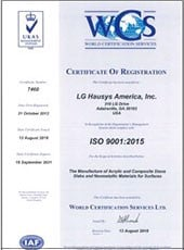 2018 viatera quartz iso 9001 certification us plant pdf