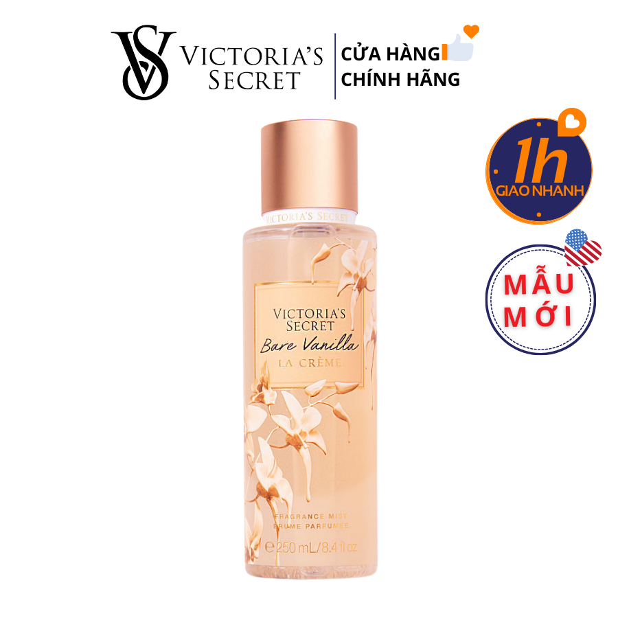 Xịt Body Victoria's Secret BARE VANILLA LA CREME Fragrance Mist