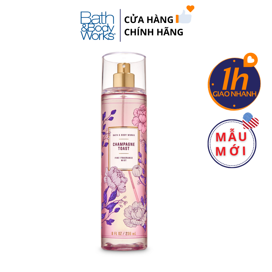 Xịt Body Bath & Body Works CHAMPAGNE TOAST Fine Fragrance Mist