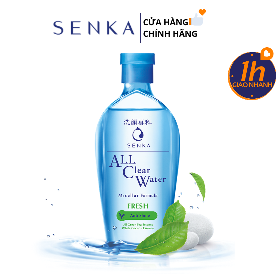 Nước Tẩy Trang Senka All Clear Water Micellar Formula Fresh 230ml
