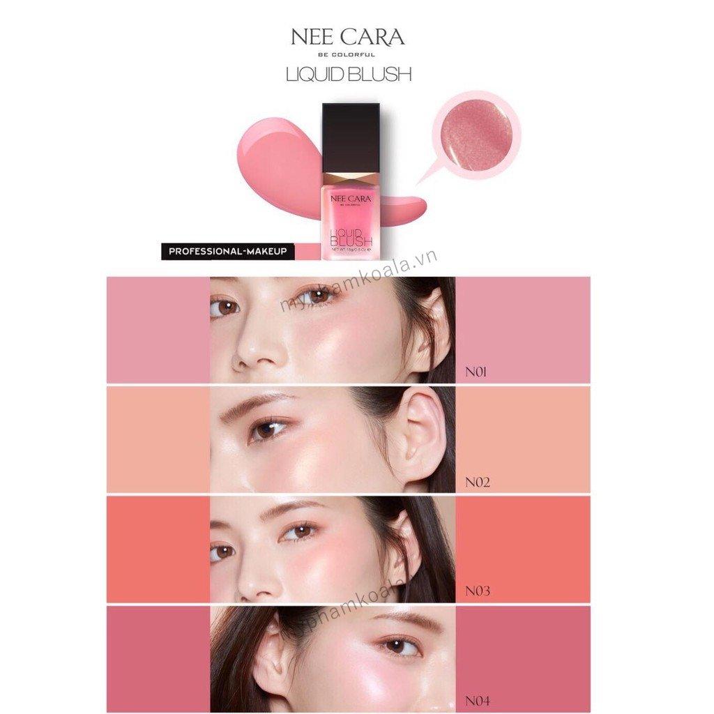 Má Hồng Kem Nee Cara Color High Quality Liquid Blush