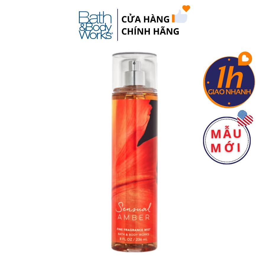 Xịt Body Bath & Body Works SENSUAL AMBER Fine Fragrance Mist