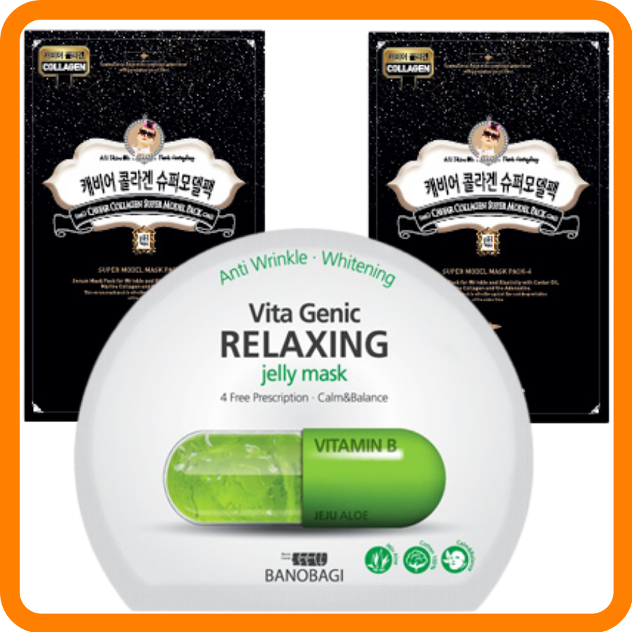 Mặt Nạ Banobagi Jelly #Relaxing + 2 Mặt Nạ PackYangee #Trứng Cá Tầm Caviar - Collagen