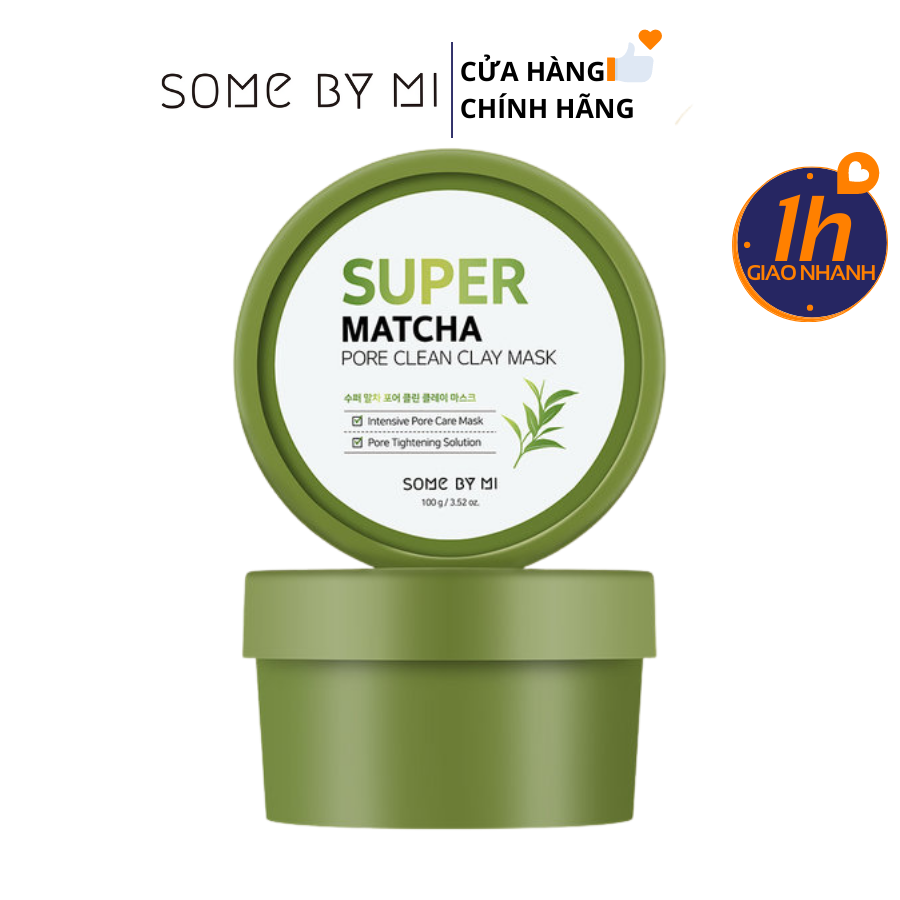 Mặt Nạ Đất Sét Some By Mi Super Matcha Pore Clean Clay Mask