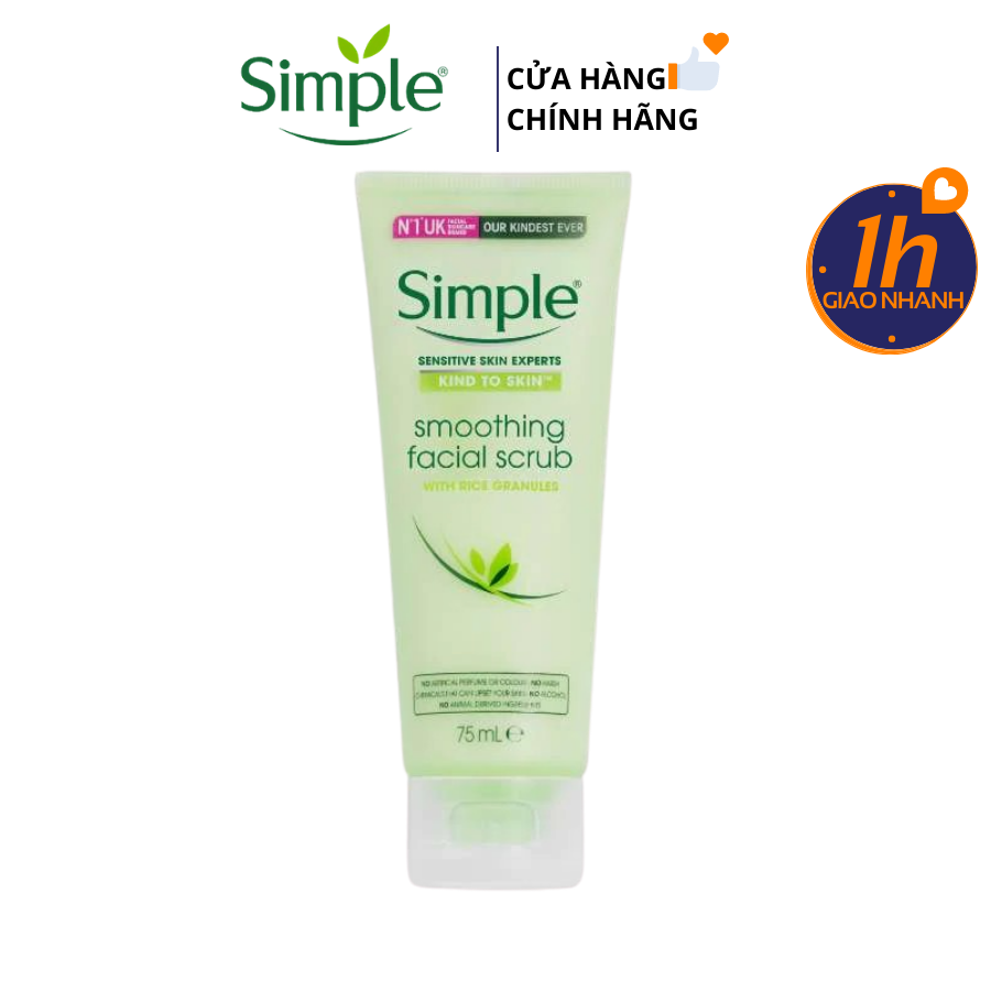 Sữa Rửa Mặt Tẩy Da Chết Simple Kind To Skin Smoothing Facial Scrub 75ml