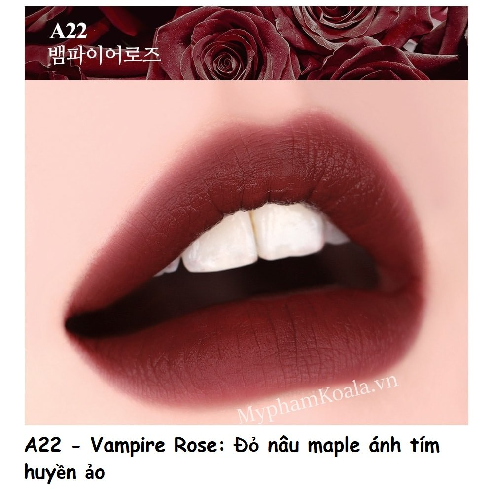 [ HOT-NEW ] Son Kem Black Rouge Airfit Velvet ver 4 Bad Rose