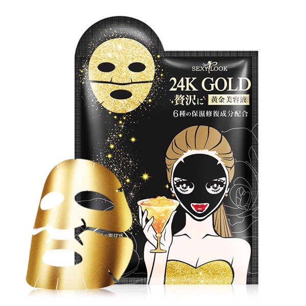 Mặt Nạ Cao Cấp Sexylook 24k Gold Moisturizing & Repairing Black Mask