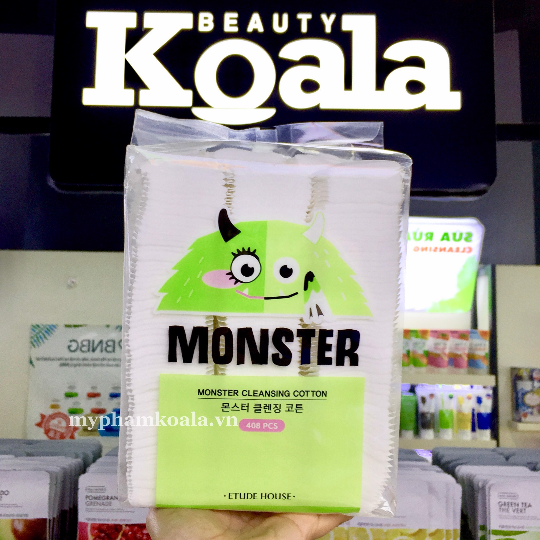 Bông Tẩy Trang 408 Miếng Etude House Monster Cleansing Cotton 408pcs