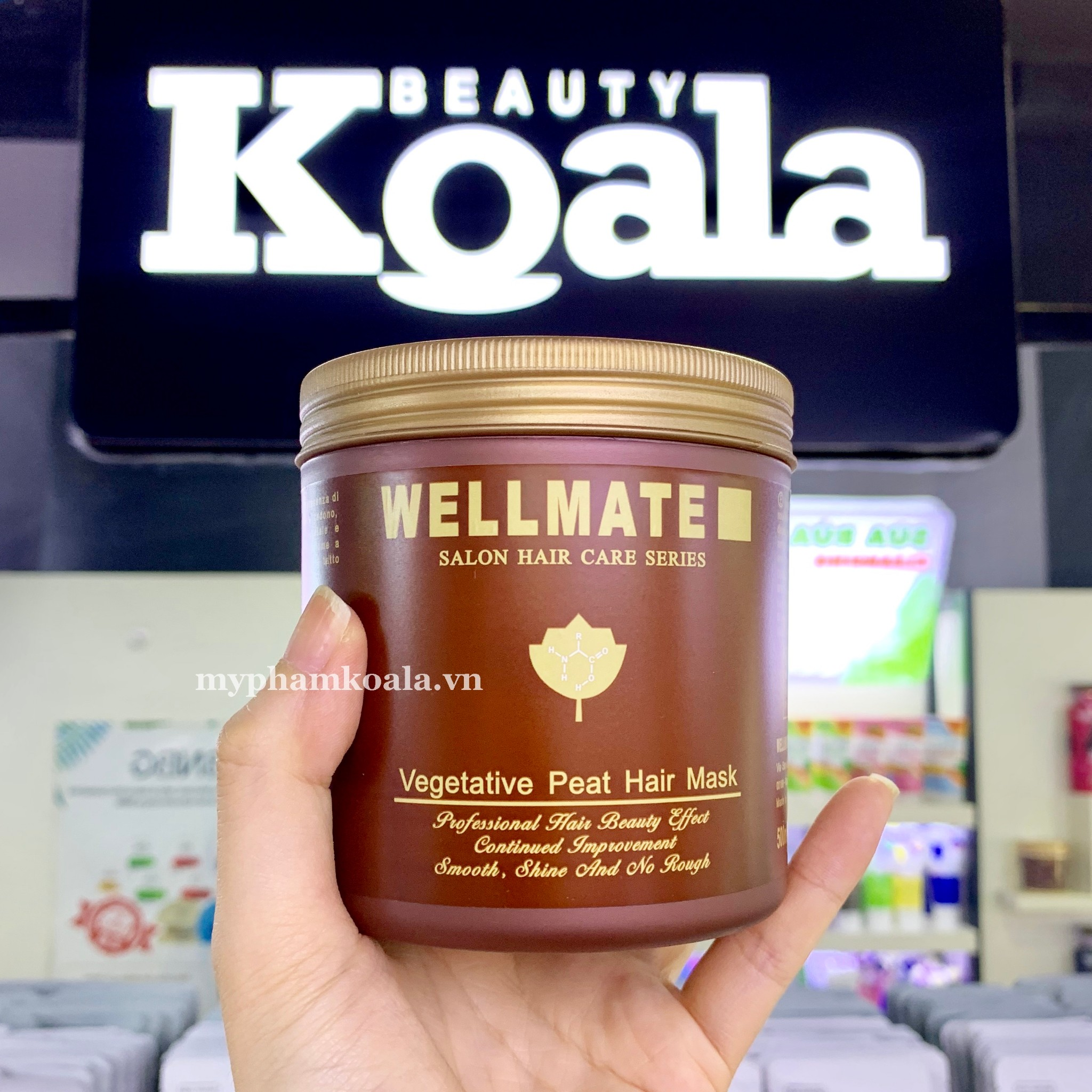 Kem Ủ Hấp Tóc Thảo Dược Wellmate Vegetative Peat Hair Mask 500ml