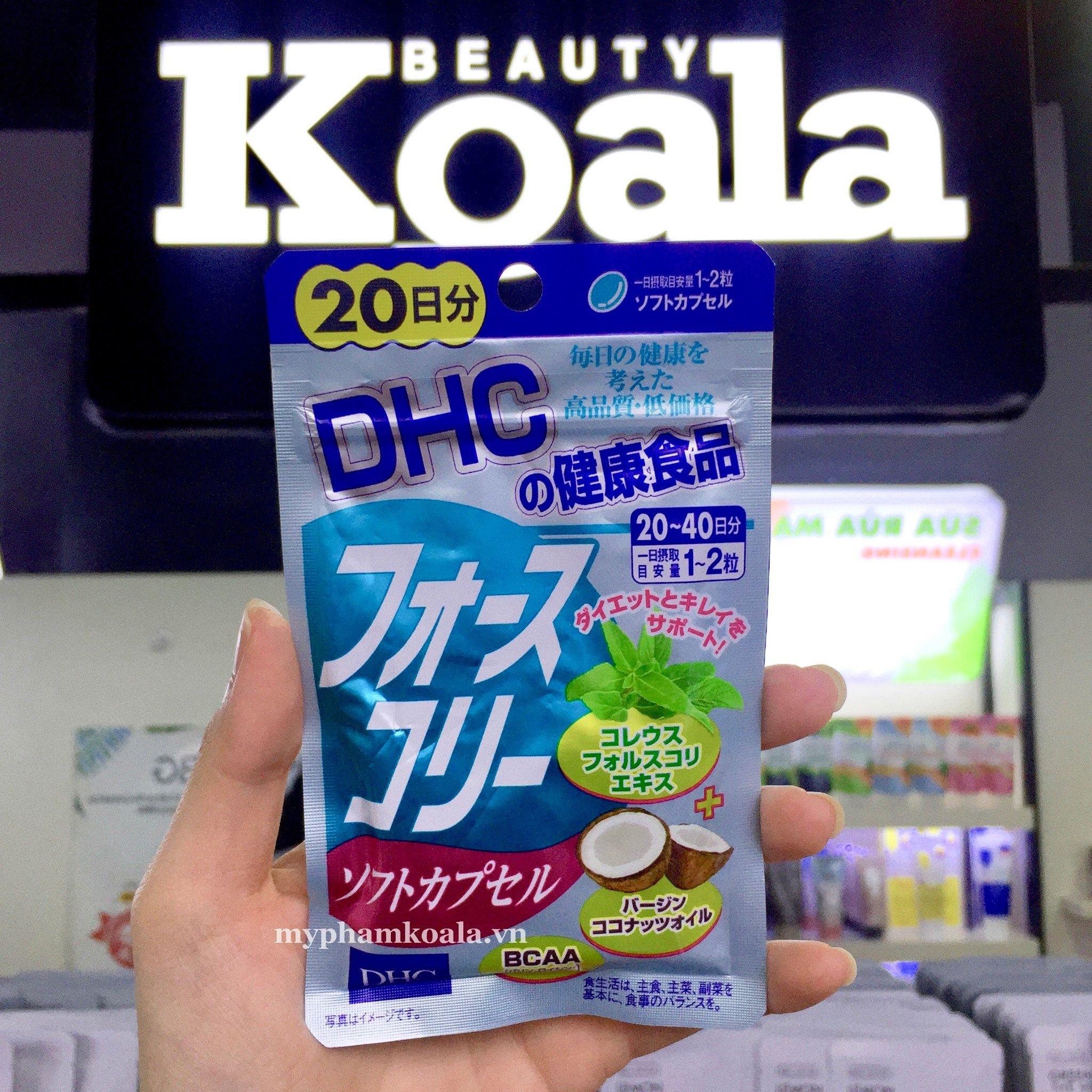 Viên Uống Giảm Cân Dầu Dừa DHC Forskolin Soft Capsule 40 viên
