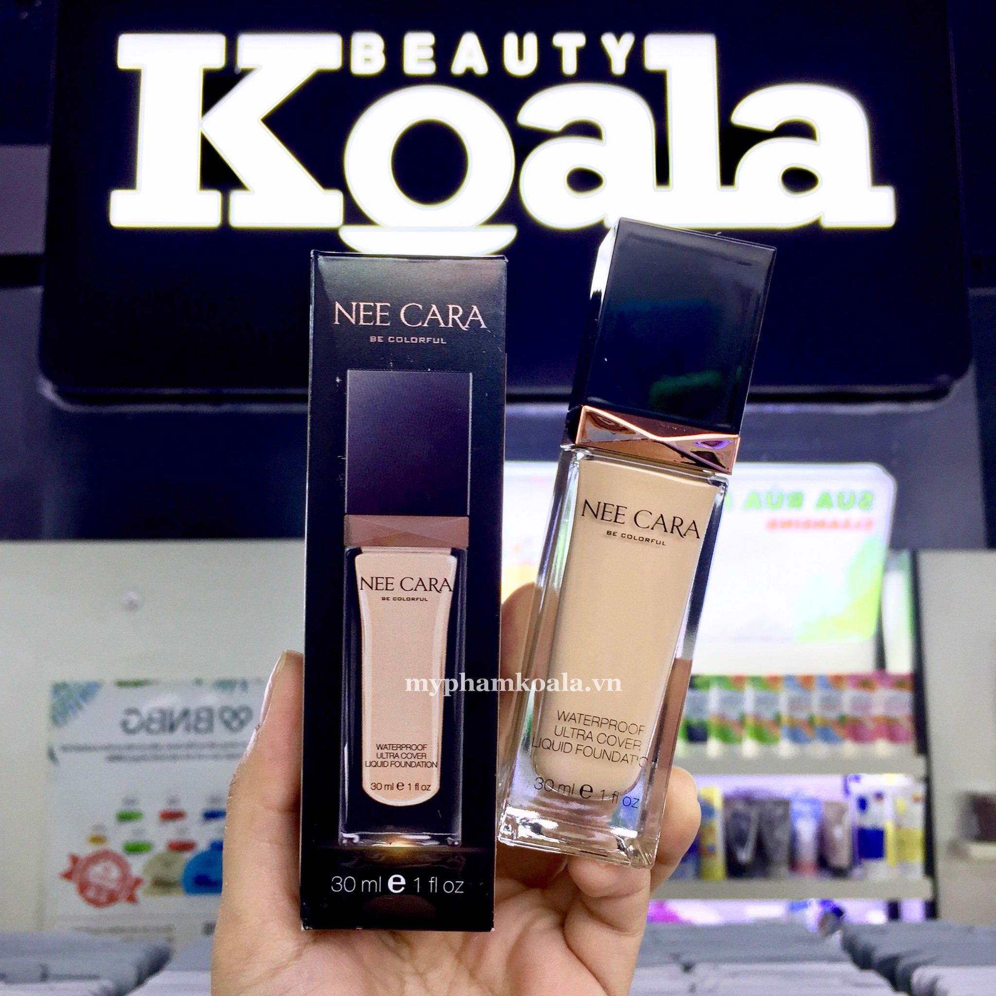 Kem Nền Siêu Che Phủ Nee Cara WaterProof Ultra Cover Liquid Foundation 30ml