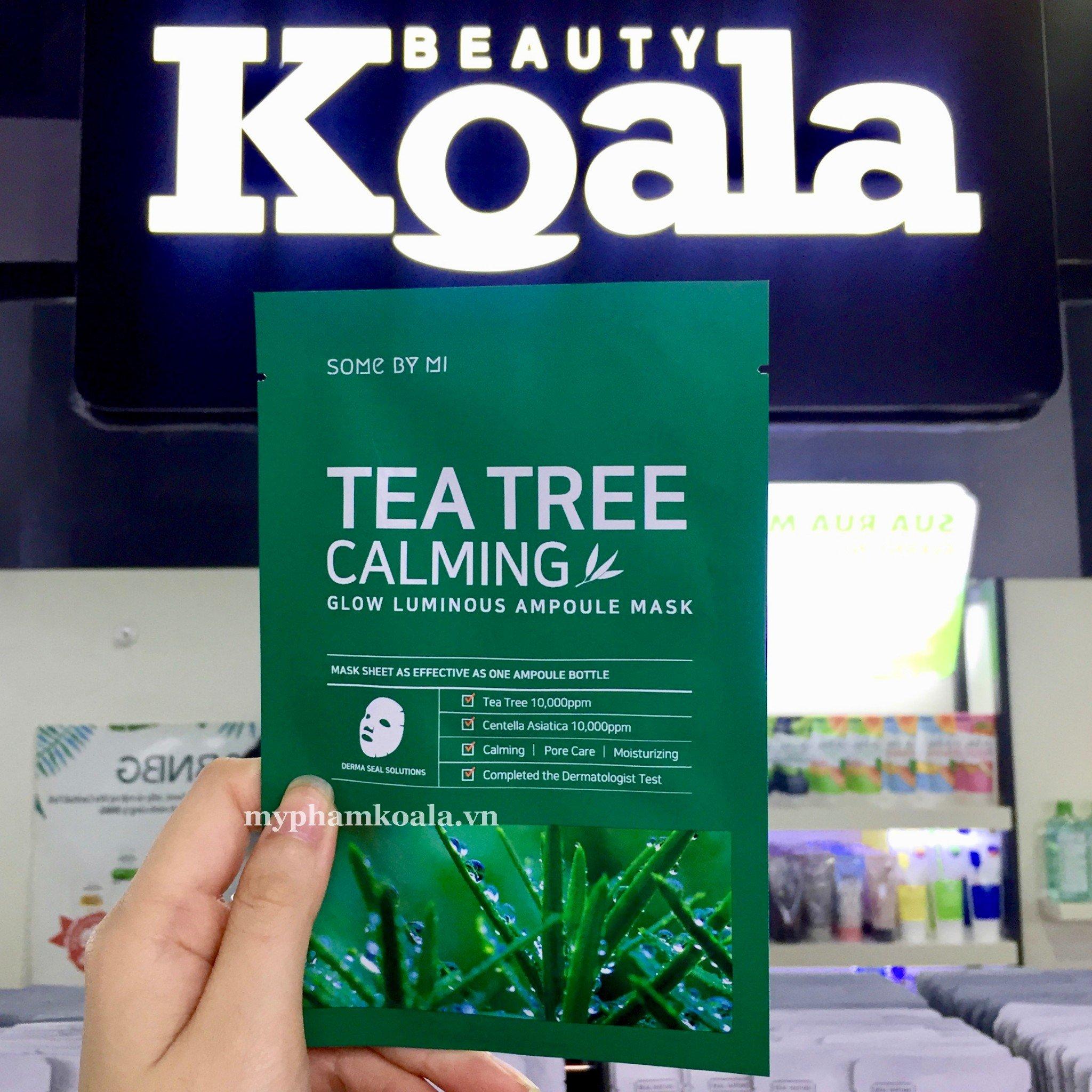 Mặt nạ Trị Thâm Mụn Some By Mi Tea Tree Calming Mask Sheet 25g