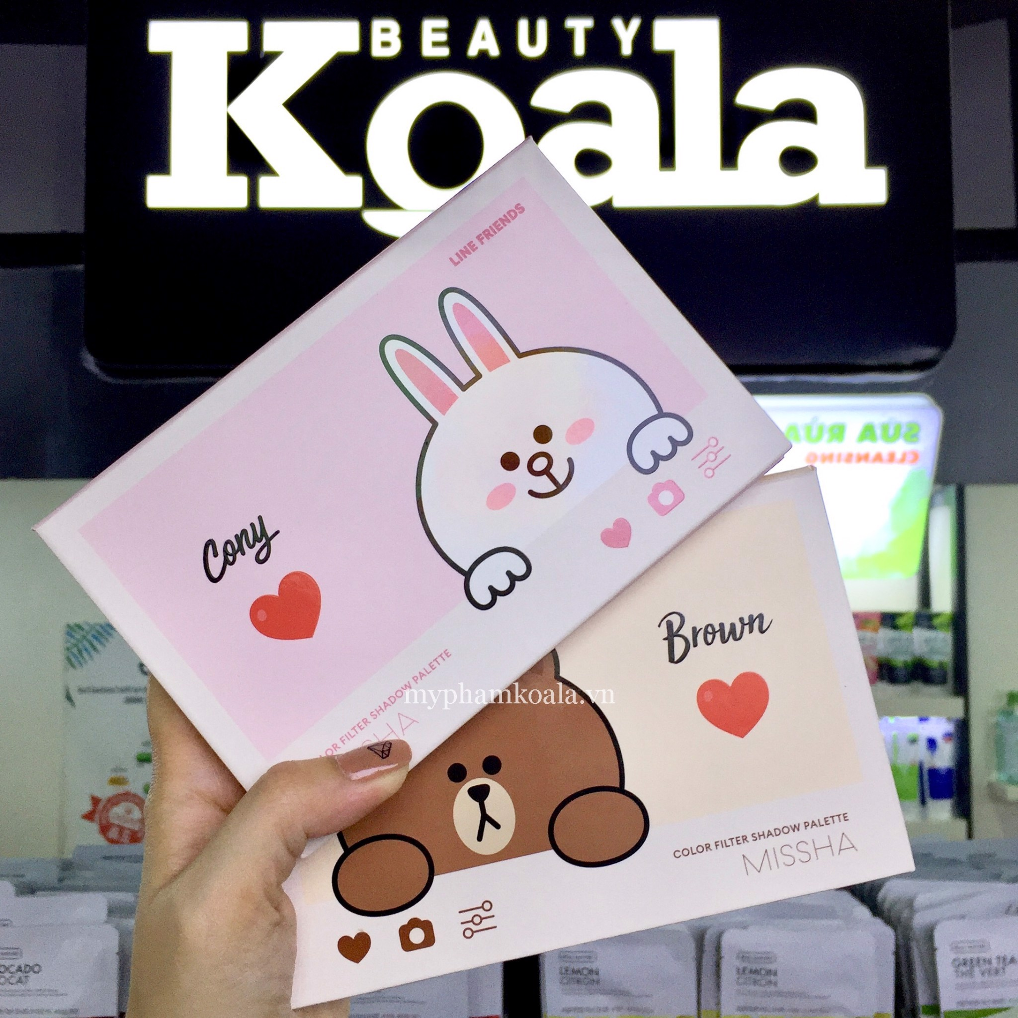 Màu Mắt Missha Line Friends Color Fitter Shadow Palette