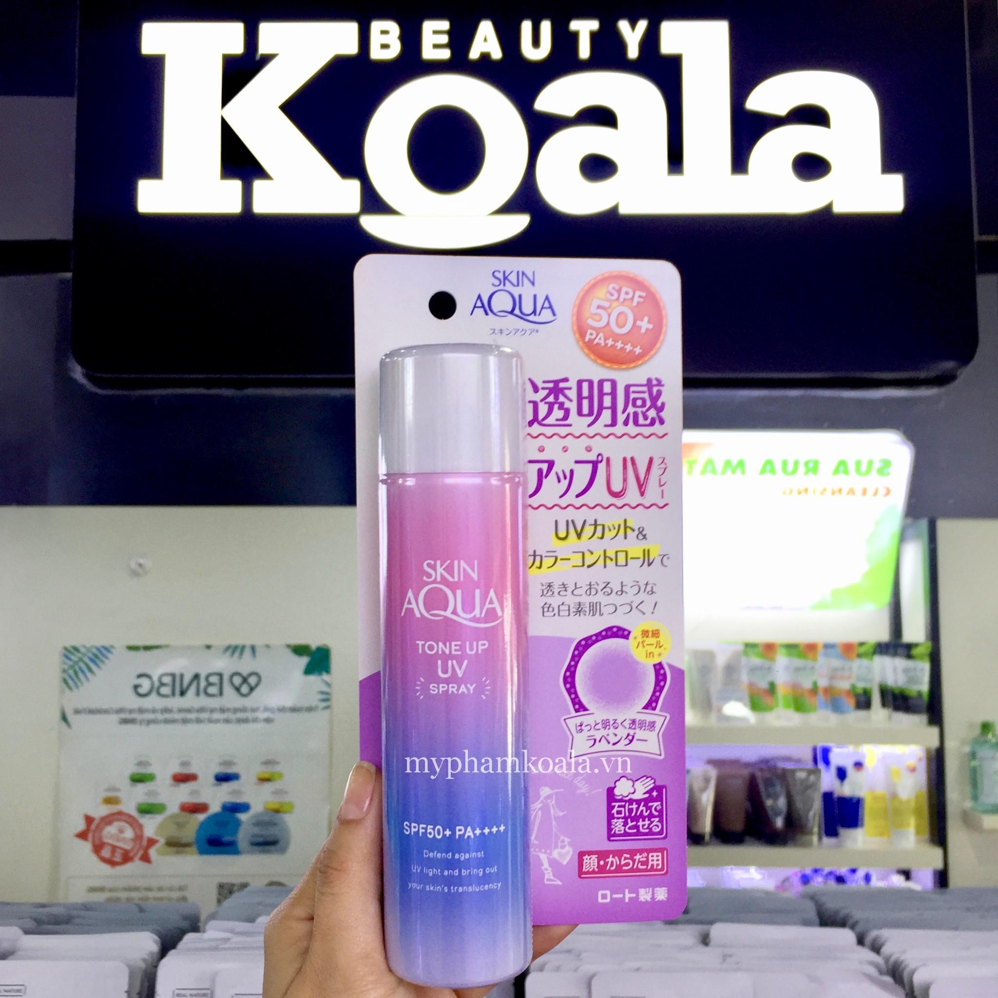 Xịt Chống Nắng Nâng Tông Da Rohto Skin Aqua Tone Up UV Spray SPF50+ PA++++ ( 70GR - HÀNG NỘI ĐỊA NHẬT )