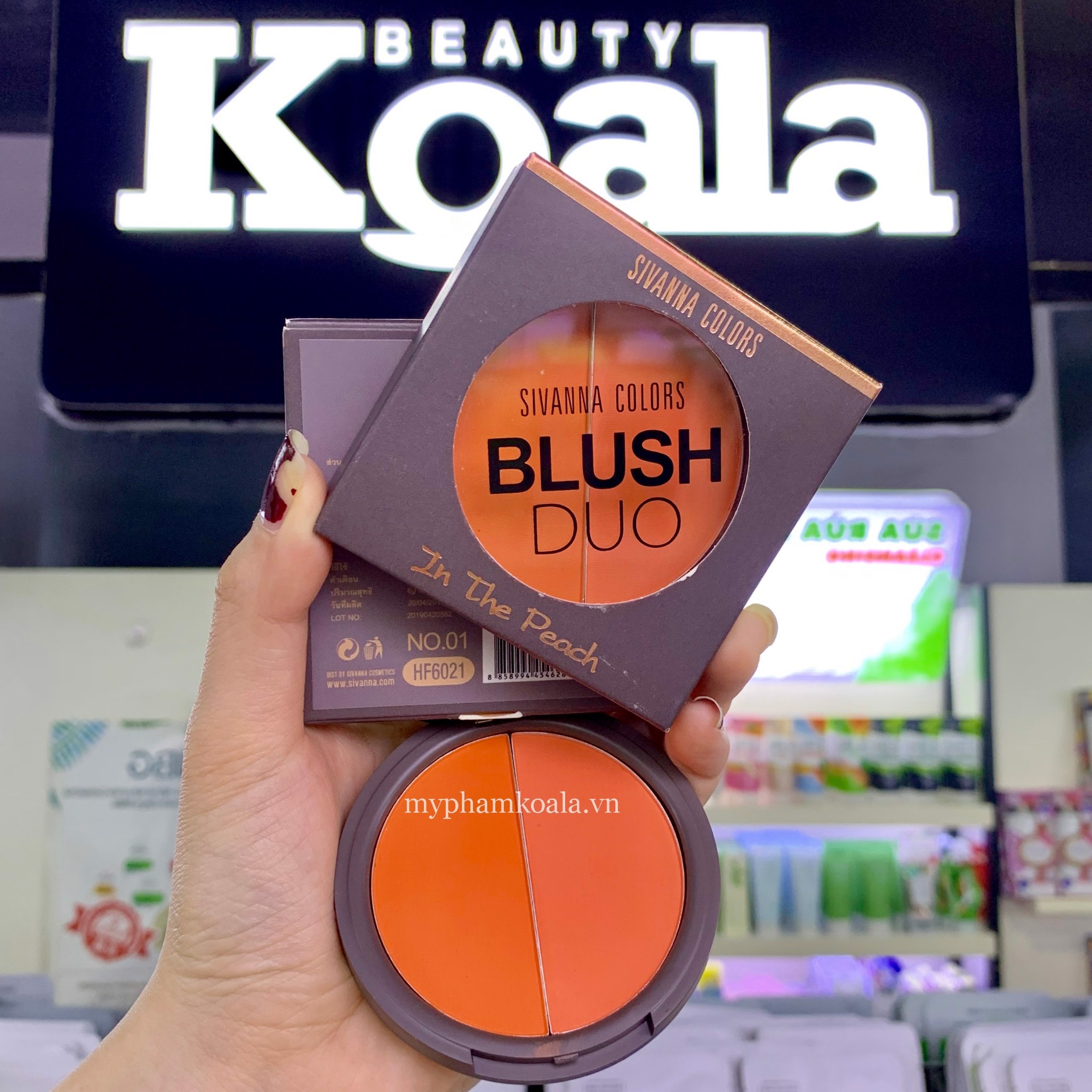Má Hồng 2 ô Sivanna Colors Blush Duo In The Peach