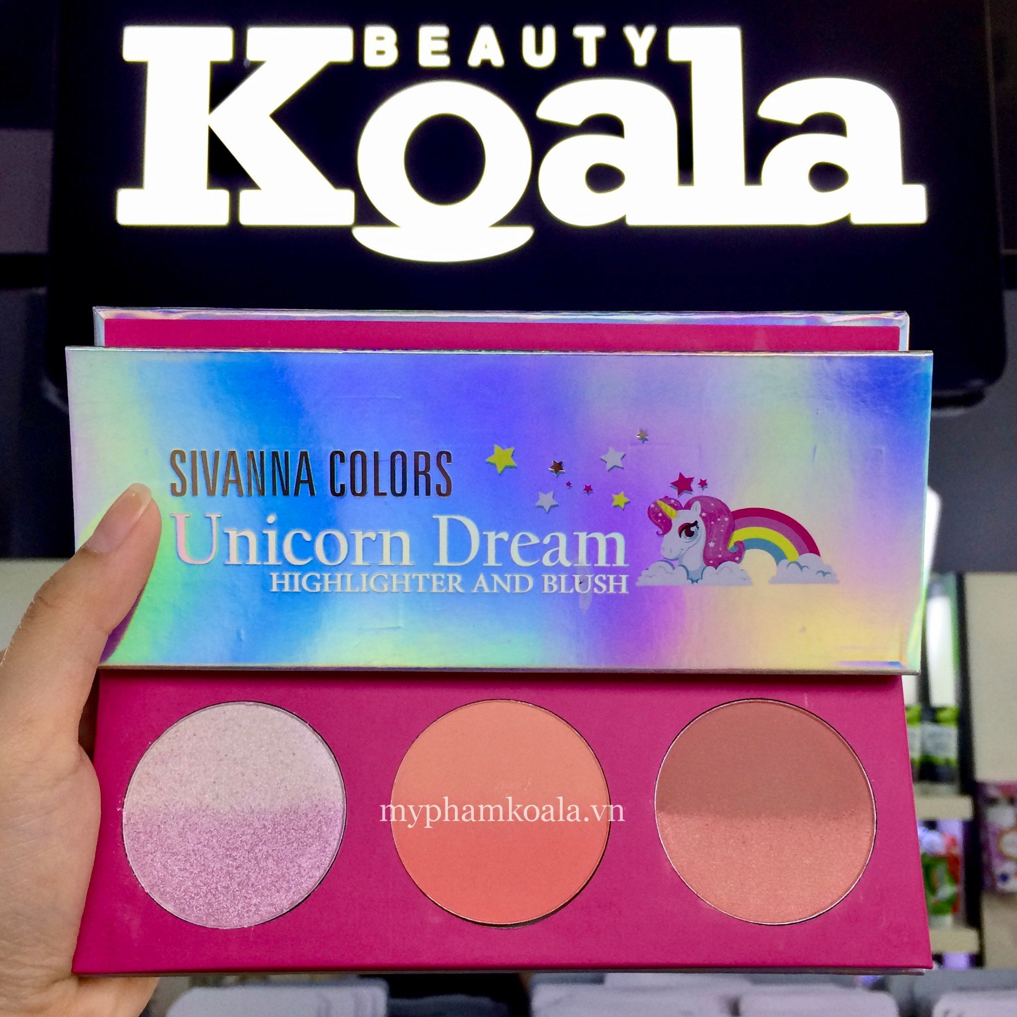 Má Hồng Bắt Sáng Tạo Khối 3in1 Sivanna Colors Unicorn Dream Highlighter And Blush