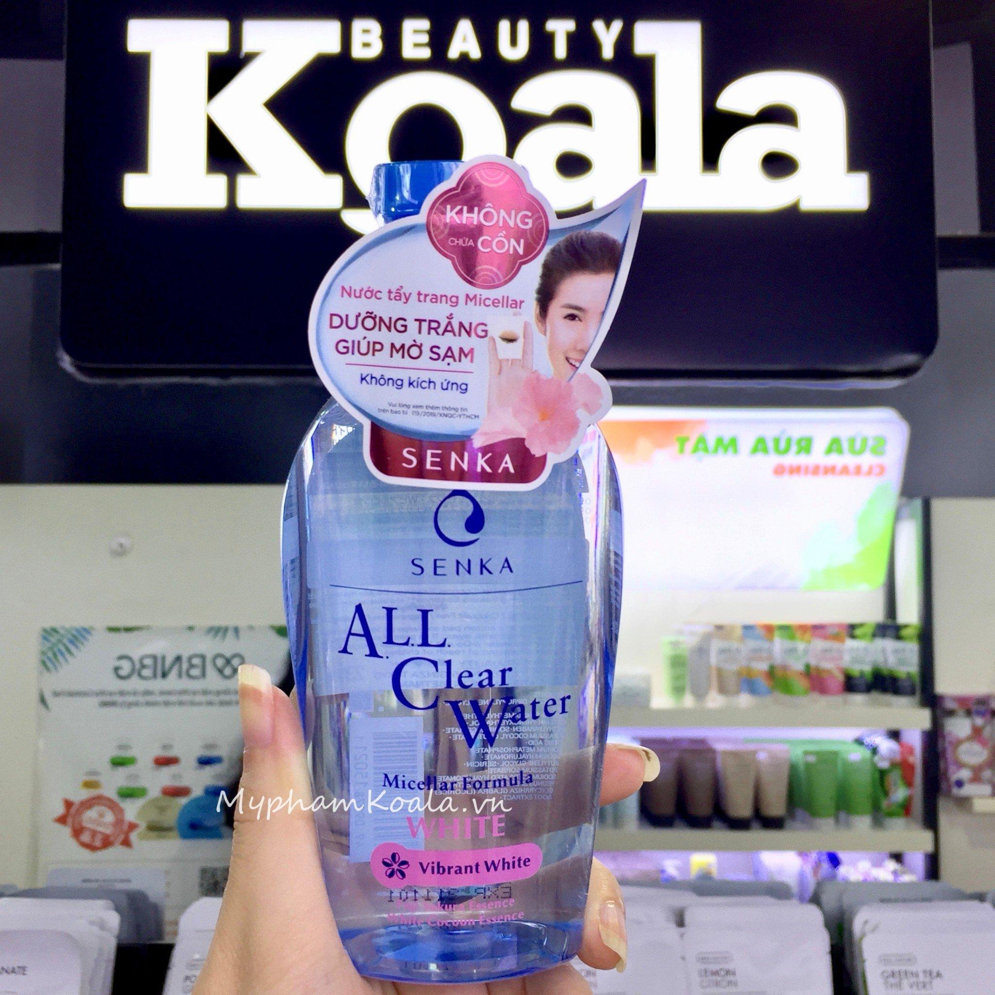 Nước Tẩy Trang Trắng Da Senka All Clear Water Micellar WHITE Formula 230ml