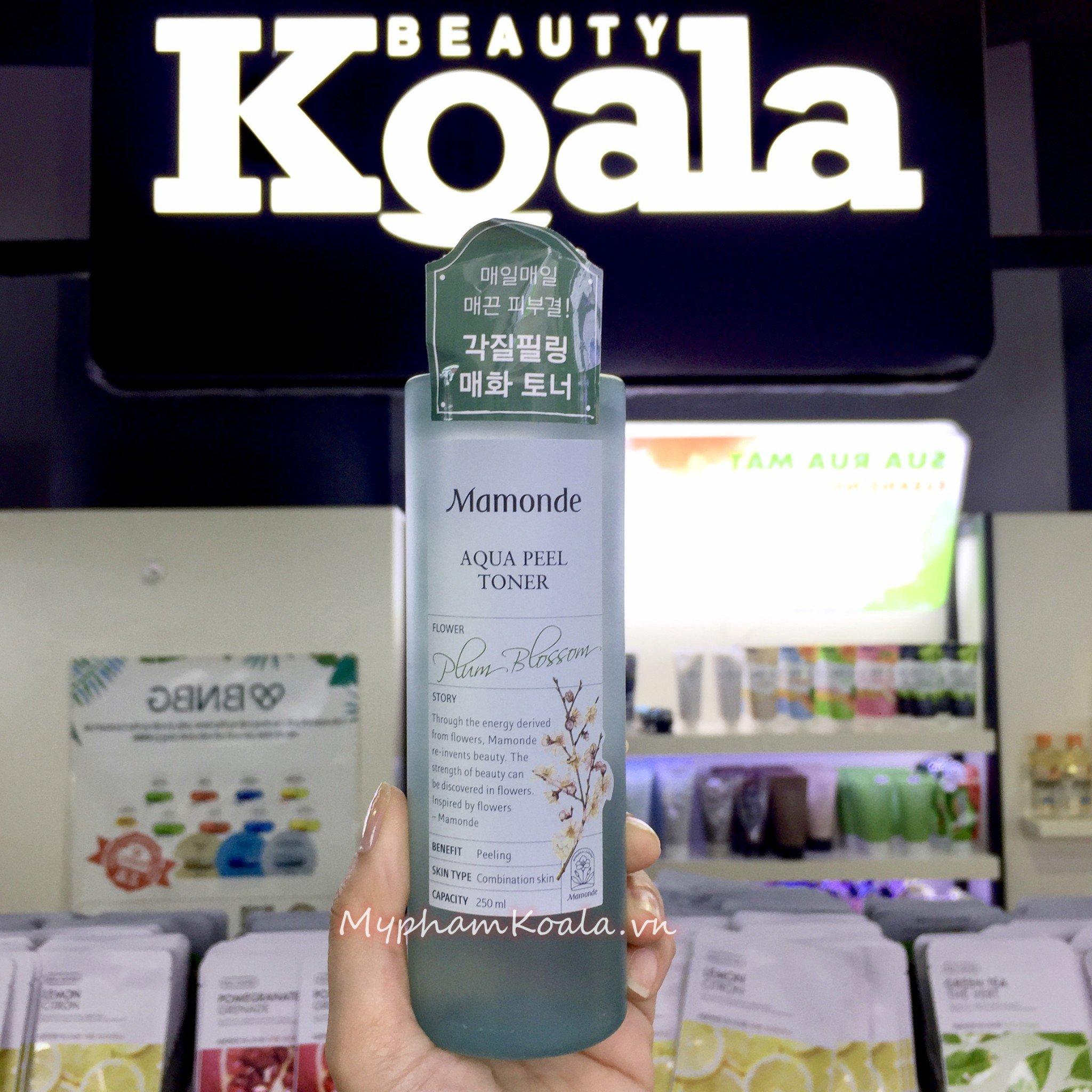 Nước Hoa Hồng Tái Tạo Da Cấp Nước Ngừa Mụn Mamonde Aqua Peel Toner Plum Blossom