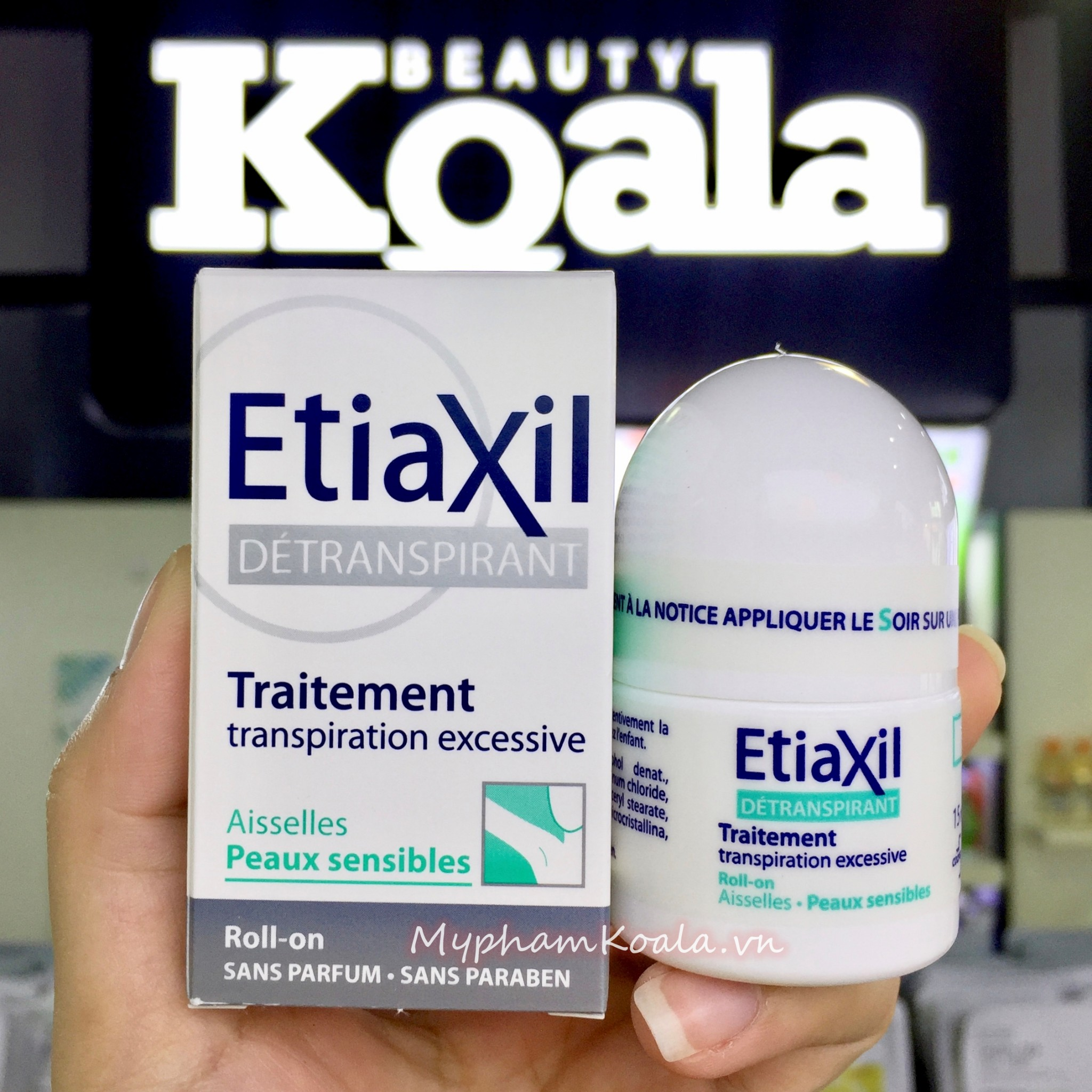 Lăn Khử Mùi ETIAXIL Detranspirant Traitement Roll-On Peaux Normales 15ml