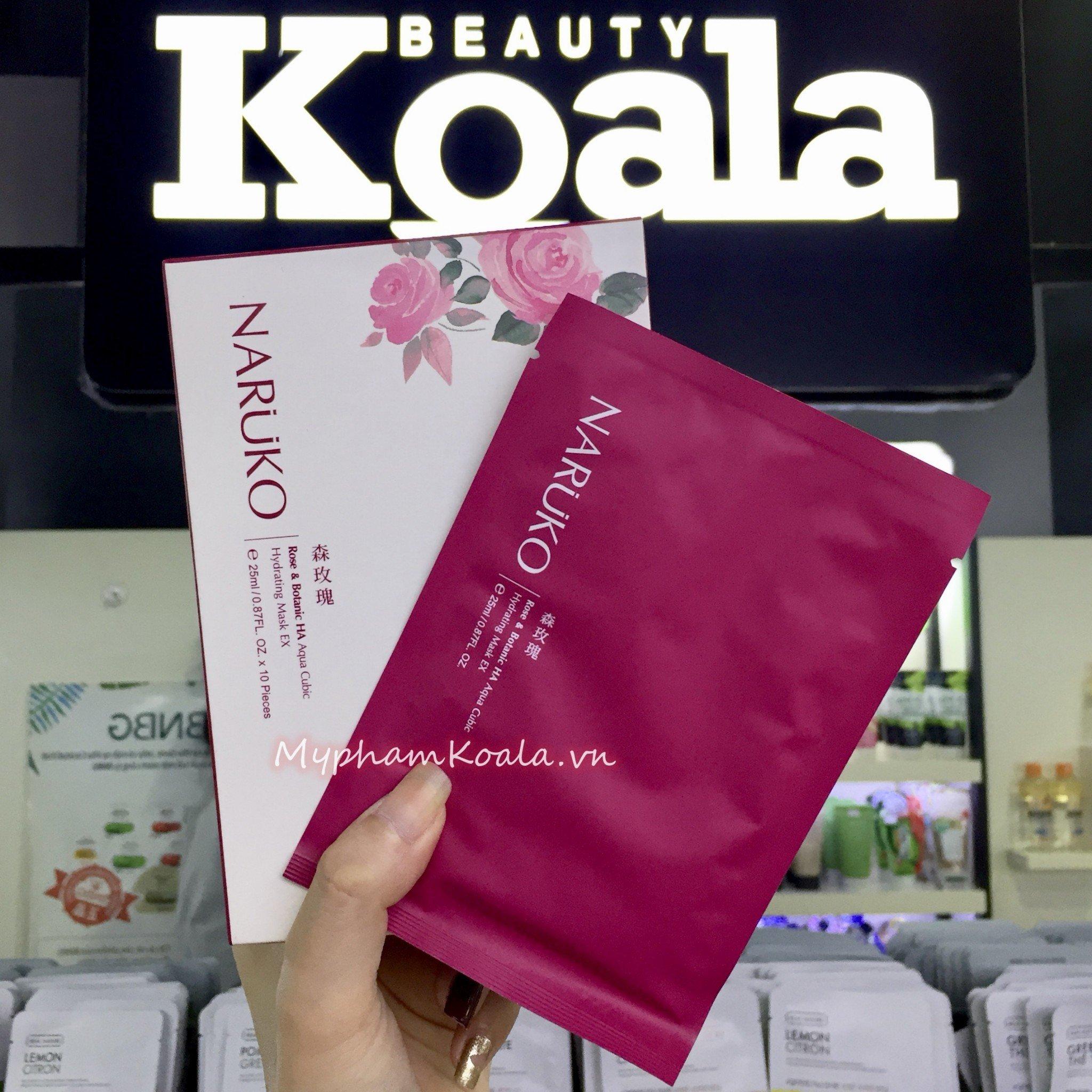 Mặt nạ Cấp Nước Naruko Rose and Botanic HA Aqua Cubic Hydrating Mask EX