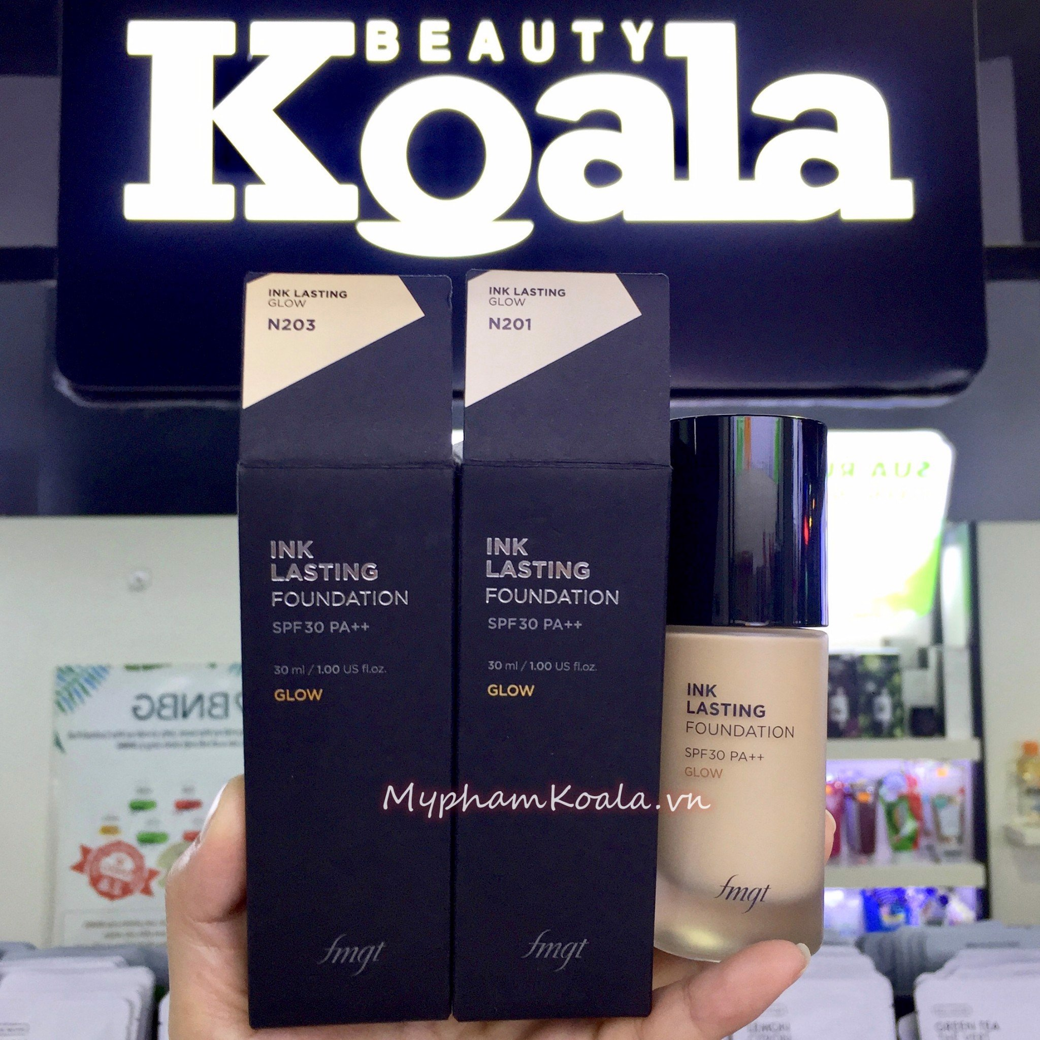 Kem Nền Đa Năng Căng Mọng Da The Face Shop fmgt Ink Lasting Foundation Glow 30ml