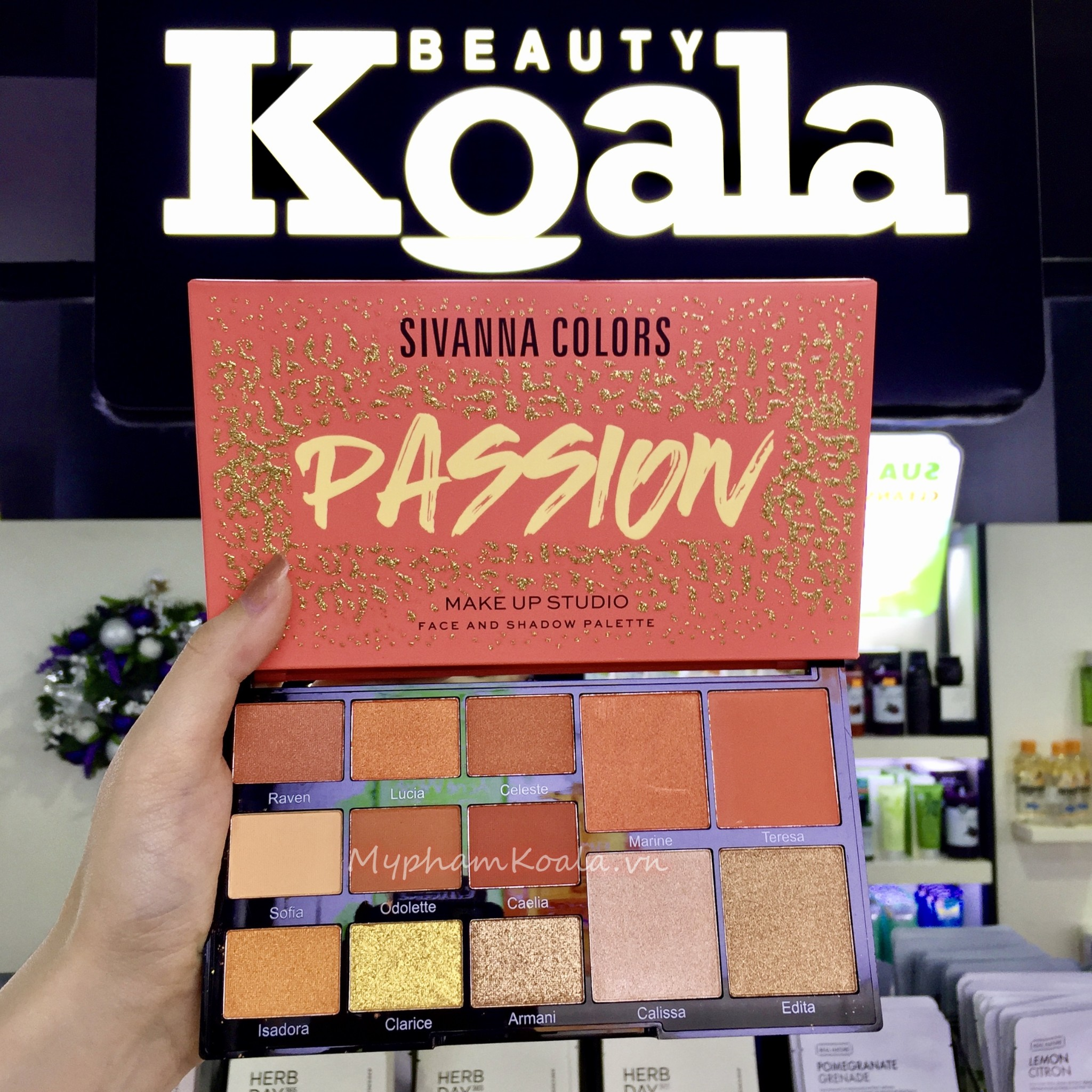 Màu Mắt Đa Năng Sivanna Colors Passion Makeup Studio Face And Shadow Palette