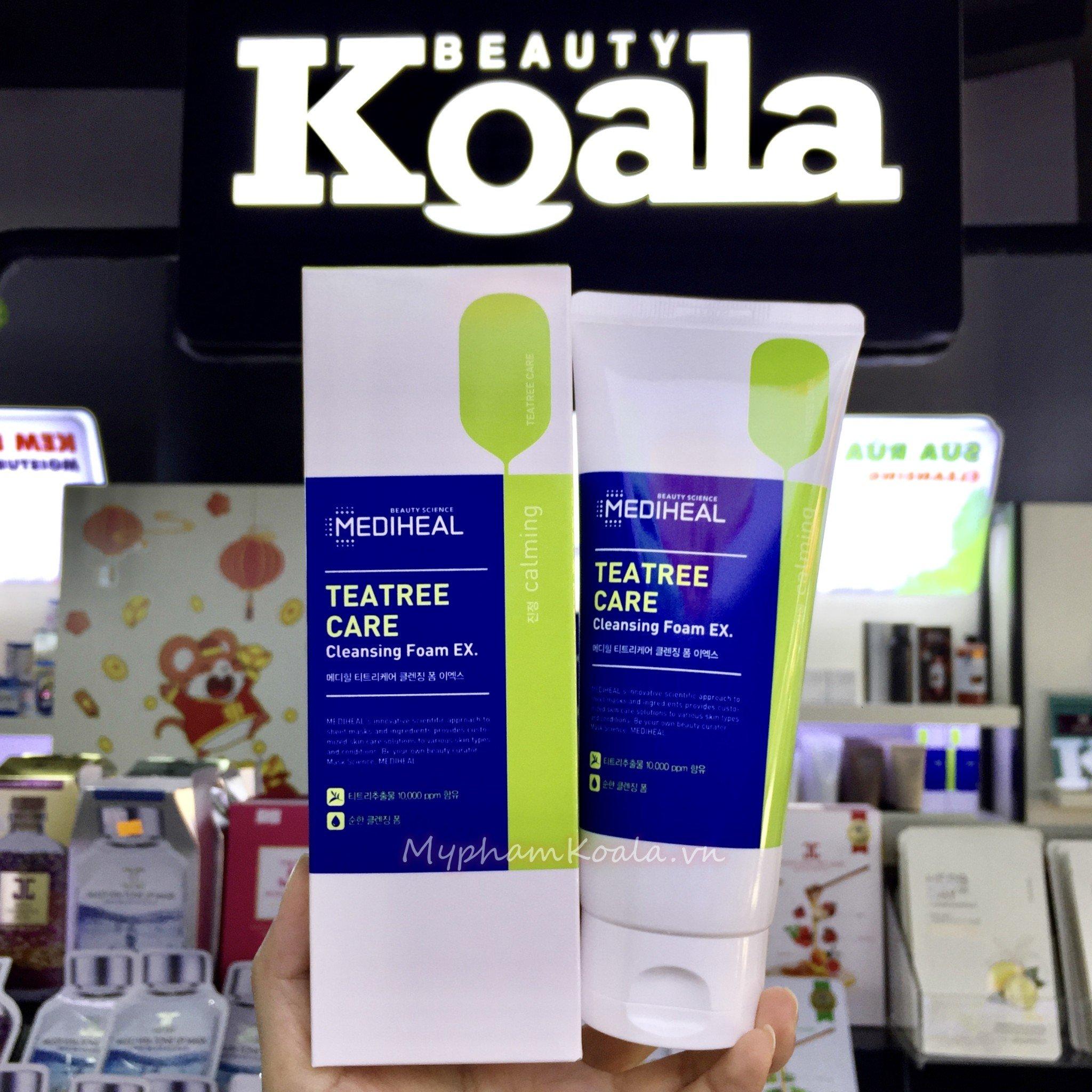 Sữa Rửa Mặt Tràm Trà Trị Mụn Mediheal Tea Tree Care Cleansing Foam 170ml