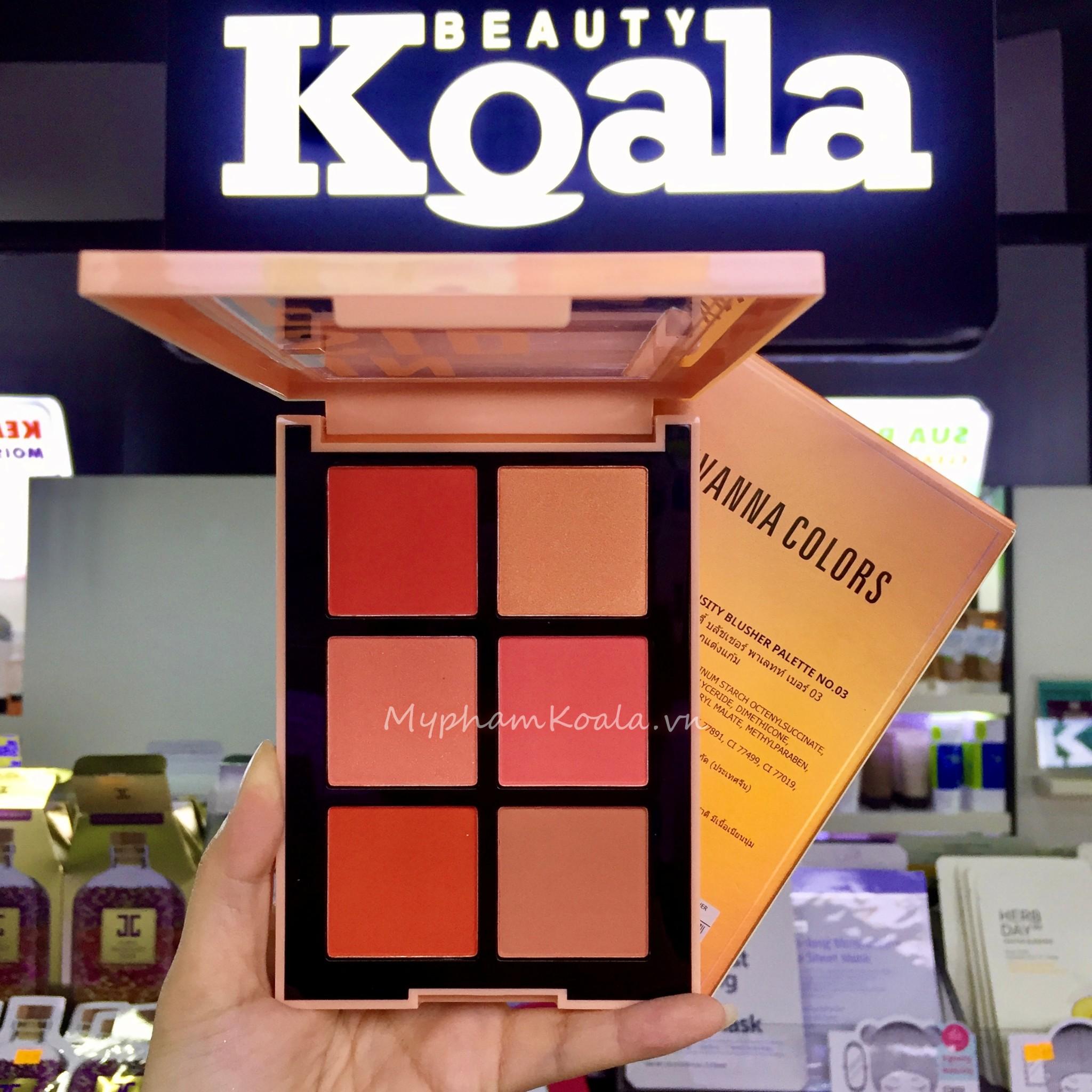 Má Hồng 6 Ô Sivanna Colors Intensity Blusher Palette