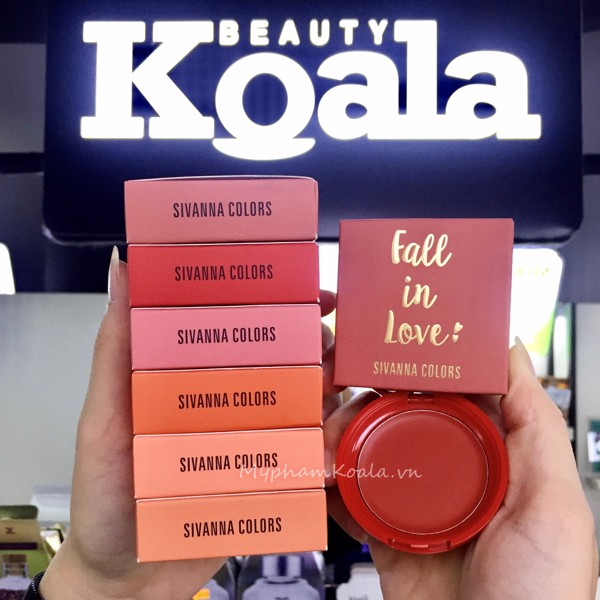 Má Hồng Kem Sivanna Colors Fall In Love Blush