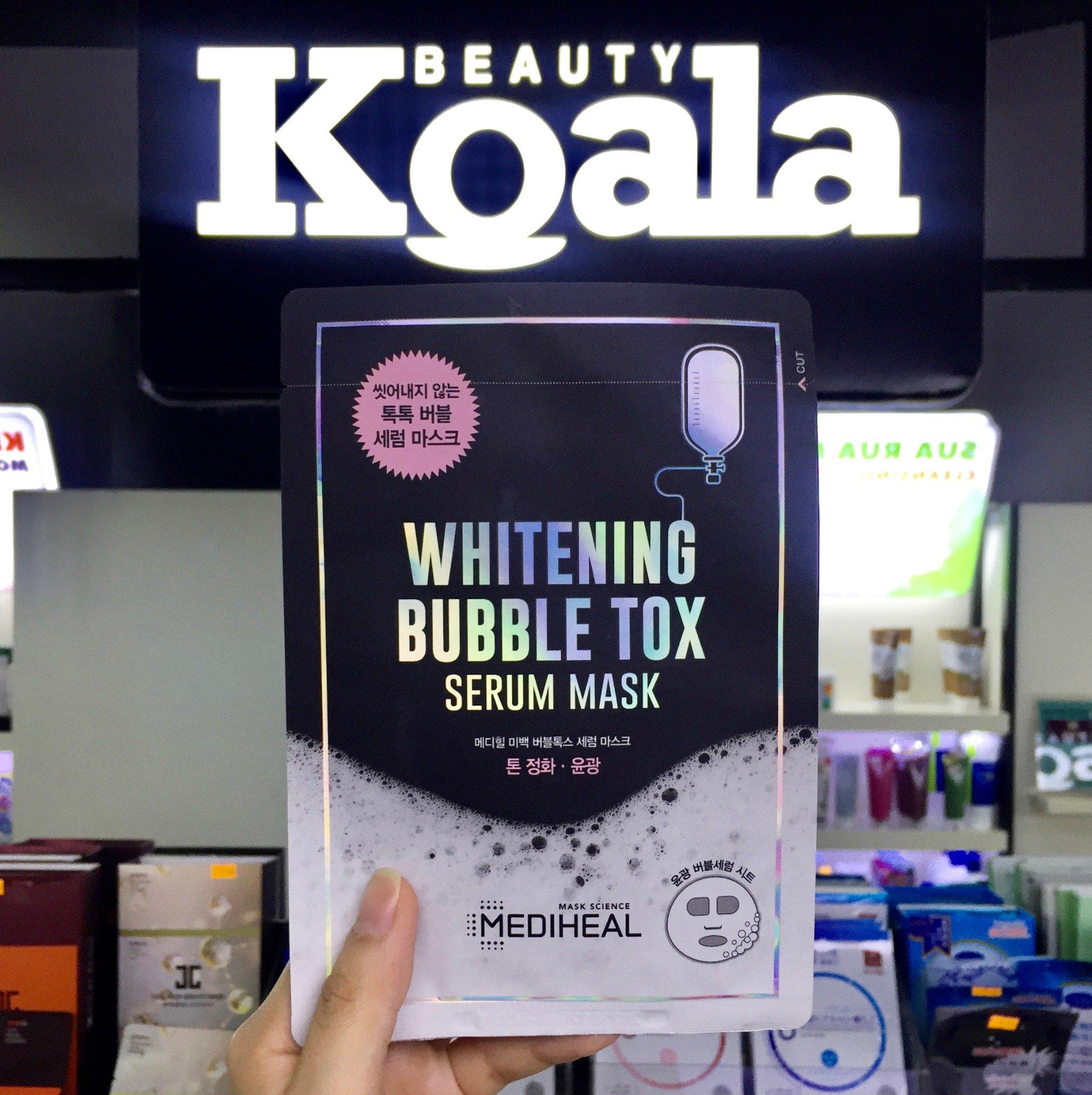 Mặt Nạ Trắng Mịn Sủi Bọt Thải Độc Da Mediheal Whitening Bubble Tox Serum Mask