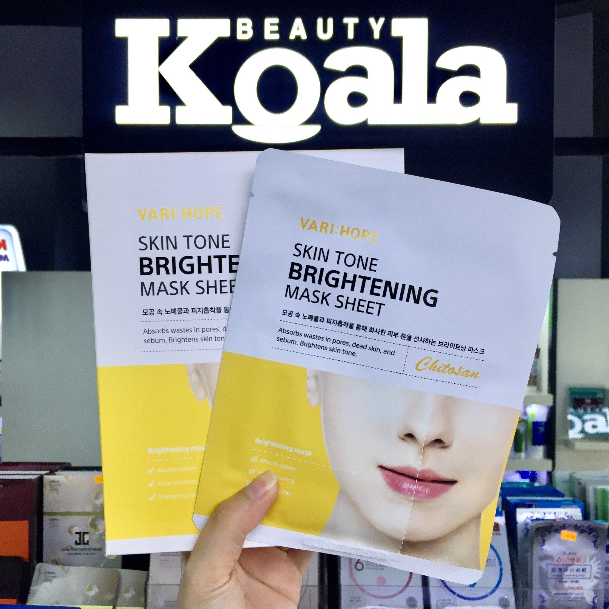 Mặt Nạ Trắng Hồng Nâng Tông Da VARIHOPE Skin Tone Brightening Mask Sheet