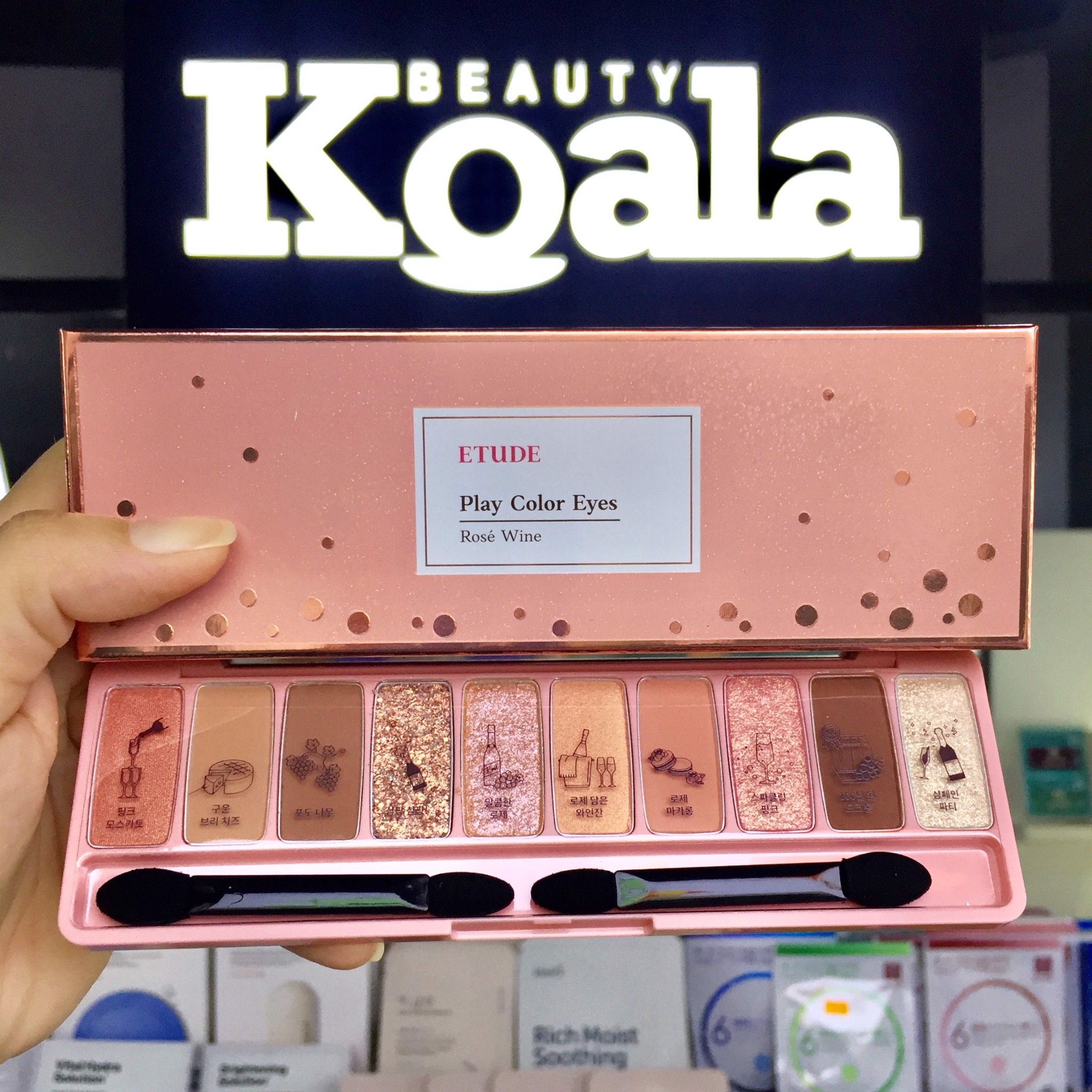 Bảng Màu Mắt 10 ô Etude House Play Color Eyes #Rose Wine