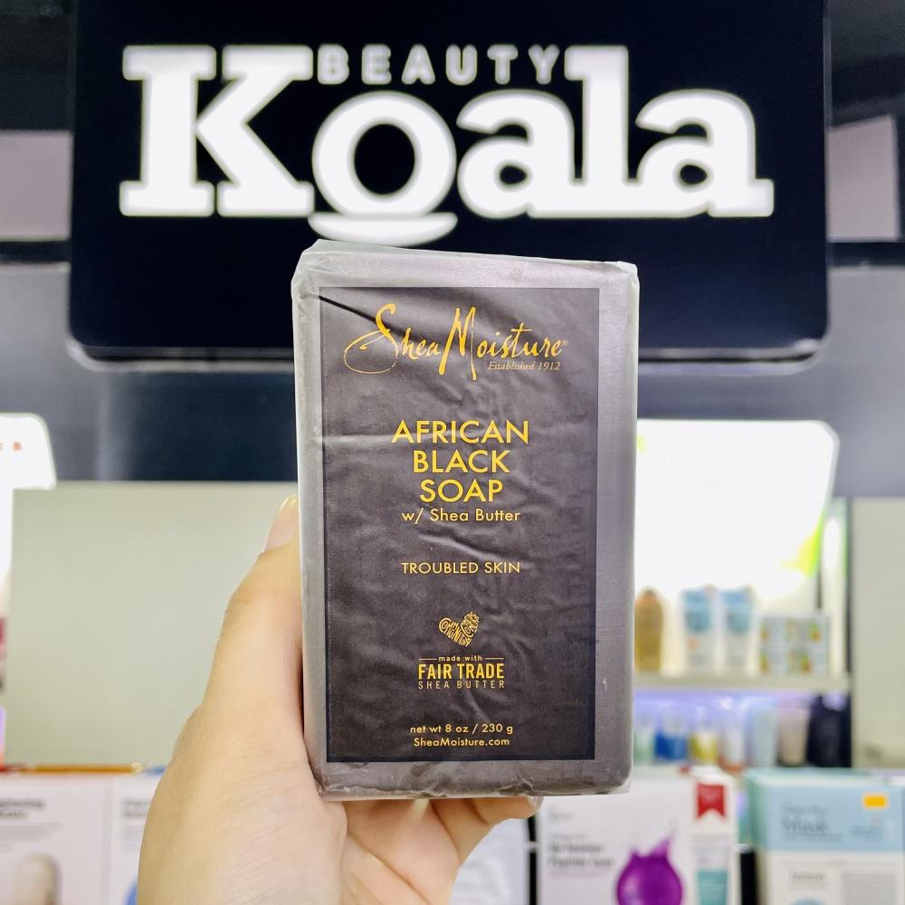 Xà Phòng Trị Mụn Thâm Lưng Shea Moisture African Black Soap