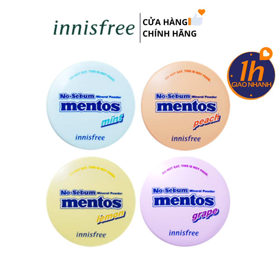 [ MENTOS Limited Edition ] Phấn Phủ Bột Innisfree No Sebum Mineral Powder 5g