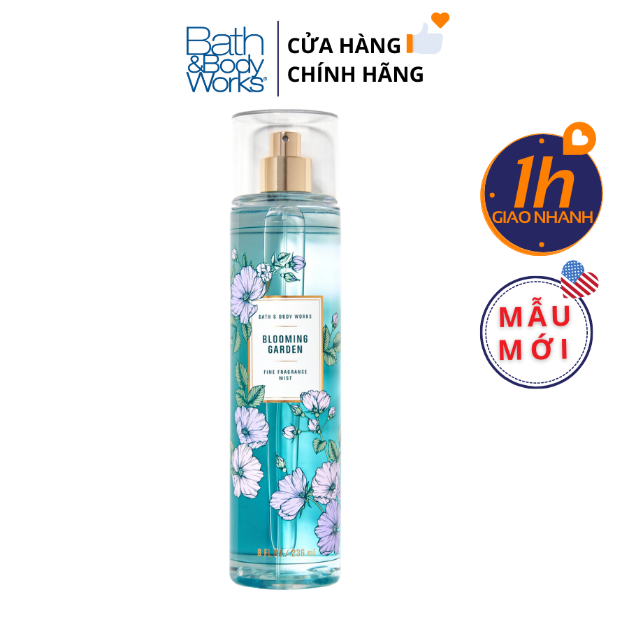 Xịt Body Bath & Body Works BLOOMING GARDEN Fine Fragrance Mist