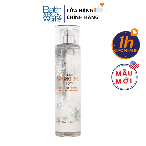 Xịt Body Bath & Body Works FRESH SPARKLING SNOW Fine Fragrance Mist