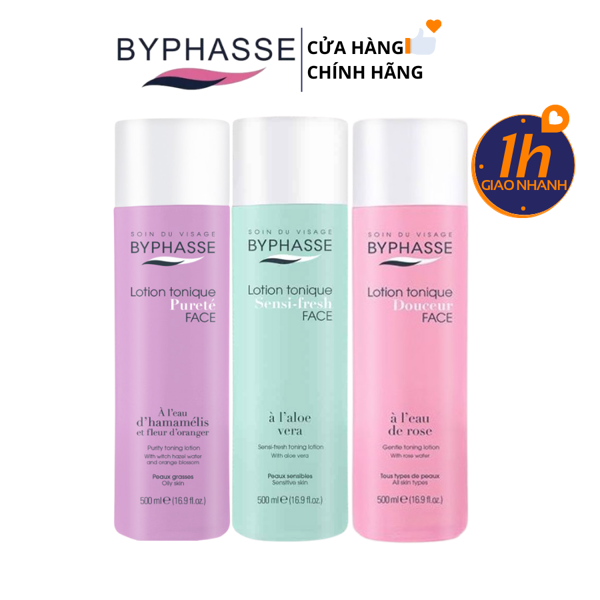 Nước Hoa Hồng Byphasse Lotion Tonique 500ml